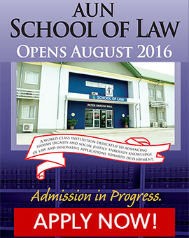 Apply for Law at American Univeristy of Nigeria